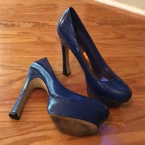 Wild Pair 5 3/4 inch royal blue shoe!
